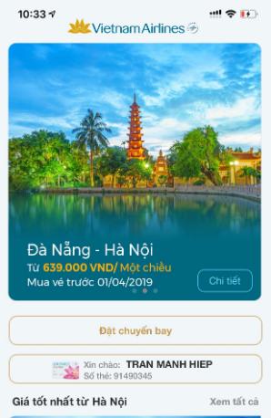 Tải ứng dụng đặt vé máy bay Vietnam Airlines cho Android + Hình 3