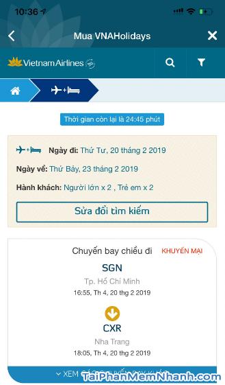 Tải ứng dụng đặt vé máy bay Vietnam Airlines cho Android + Hình 4