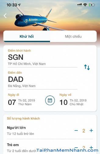 Tải ứng dụng đặt vé máy bay Vietnam Airlines cho Android + Hình 5