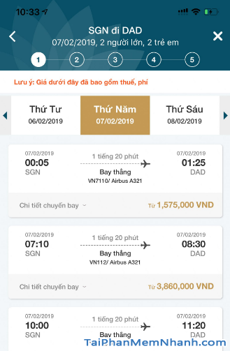 Tải ứng dụng đặt vé máy bay Vietnam Airlines cho Android + Hình 6