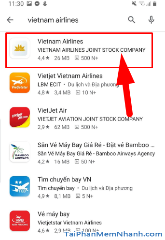 Tải ứng dụng đặt vé máy bay Vietnam Airlines cho Android + Hình 12