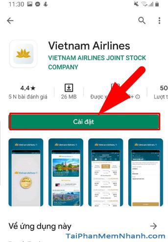 Tải ứng dụng đặt vé máy bay Vietnam Airlines cho Android + Hình 13
