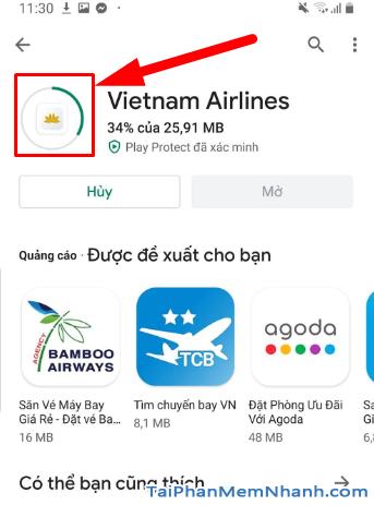 Tải ứng dụng đặt vé máy bay Vietnam Airlines cho Android + Hình 14