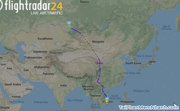 Cách theo dõi chuyến bay của người thân trên Flightradar24 + Hình 3