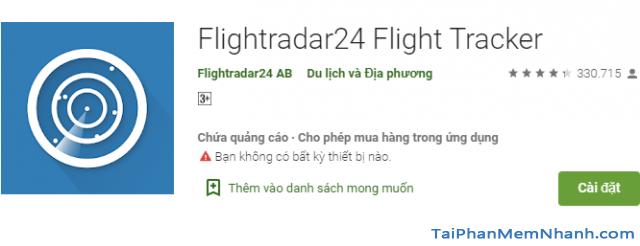 Cách theo dõi chuyến bay của người thân trên Flightradar24 + Hình 6