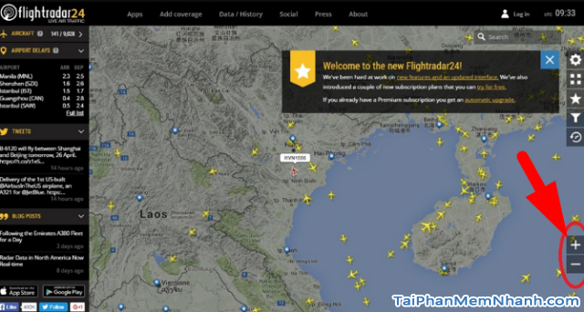 Cách theo dõi chuyến bay của người thân trên Flightradar24 + Hình 10