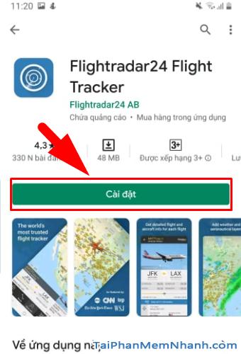 Tải cài đặt ứng dụng Flightradar24 cho Android + Hình 9