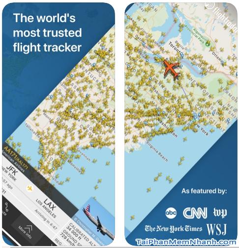 Tải cài đặt phần mềm Flightradar24 cho iPhone, iPad + Hình 2