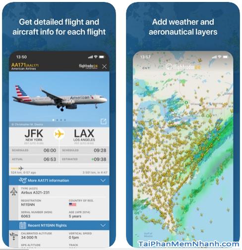 Tải cài đặt phần mềm Flightradar24 cho iPhone, iPad + Hình 4