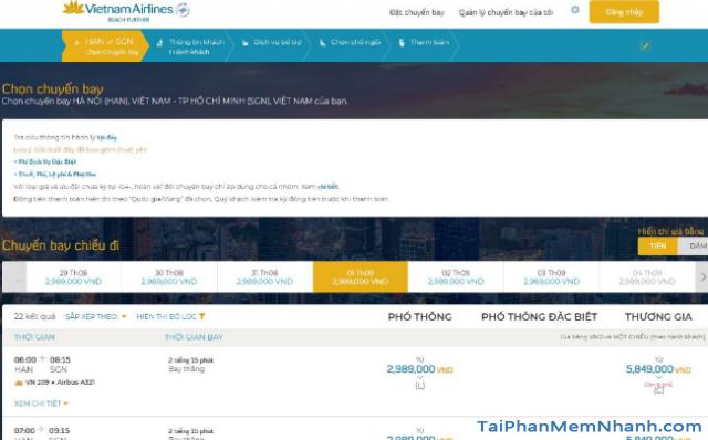 Hướng dẫn đặt vé máy bay online trên trang web Vietnam Airlines + Hình 7