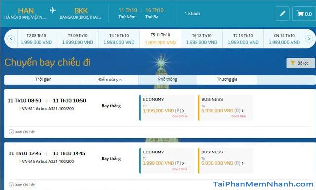 Hướng dẫn đặt vé máy bay online trên trang web Vietnam Airlines + Hình 10