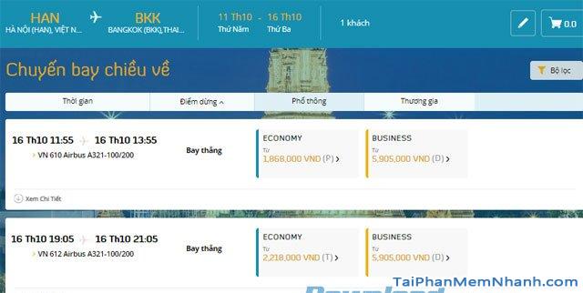 Hướng dẫn đặt vé máy bay online trên trang web Vietnam Airlines + Hình 11
