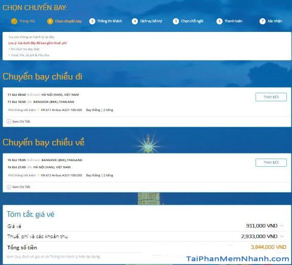 Hướng dẫn đặt vé máy bay online trên trang web Vietnam Airlines + Hình 12