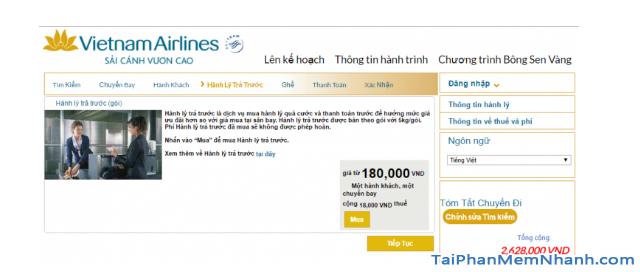 Hướng dẫn đặt vé máy bay online trên trang web Vietnam Airlines + Hình 16