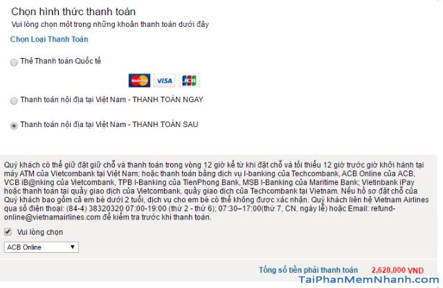 Hướng dẫn đặt vé máy bay online trên trang web Vietnam Airlines + Hình 17