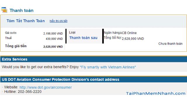 Hướng dẫn đặt vé máy bay online trên trang web Vietnam Airlines + Hình 20