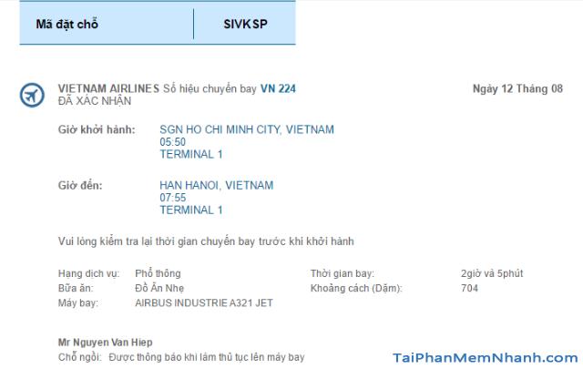 Hướng dẫn đặt vé máy bay online trên trang web Vietnam Airlines + Hình 21