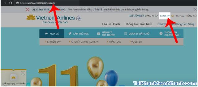 Đăng ký tài khoản Bông Sen Vàng trên web Vietnam Airlines + Hình 6