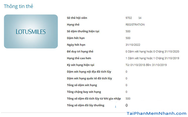 Đăng ký tài khoản Bông Sen Vàng trên web Vietnam Airlines + Hình 17