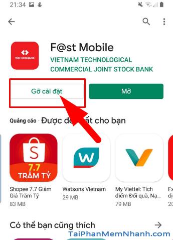 Tải cài đặt ứng dụng Techcombank cho điện thoại Android + Hình 16