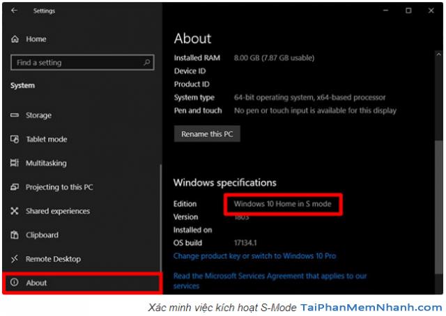 Hướng dẫn cách kích hoạt S-Mode trên file ISO Windows 10 + Hình 7