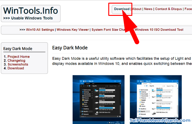 Đổi giao diện Sáng - Tối trong Windows 10 với Easy Dark Mode + Hình 2