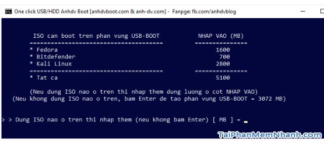 Anhdv Boot 2020 v2.0 - Hướng dẫn cách tạo USB Boot + Hình 9