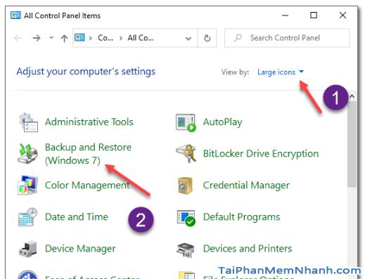 Dùng System Image để Sao lưu & Phục hồi Windows 10 + Hình 10