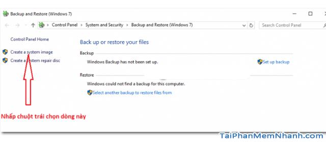 Dùng System Image để Sao lưu & Phục hồi Windows 10 + Hình 11
