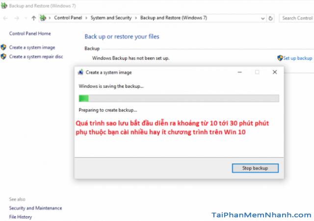 Dùng System Image để Sao lưu & Phục hồi Windows 10 + Hình 15