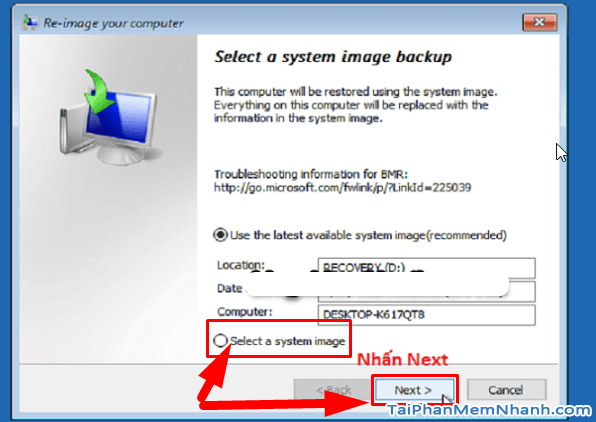 Dùng System Image để Sao lưu & Phục hồi Windows 10 + Hình 28