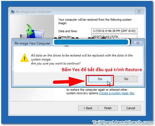 Dùng System Image để Sao lưu & Phục hồi Windows 10 + Hình 30
