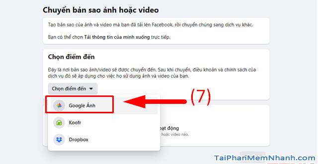 Hướng dẫn di chuyển ảnh từ Facebook sang Google Photos + Hình 9