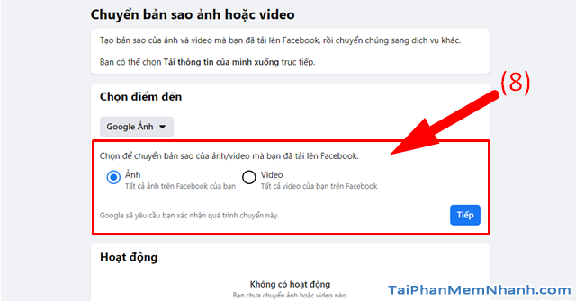 Hướng dẫn di chuyển ảnh từ Facebook sang Google Photos + Hình 10
