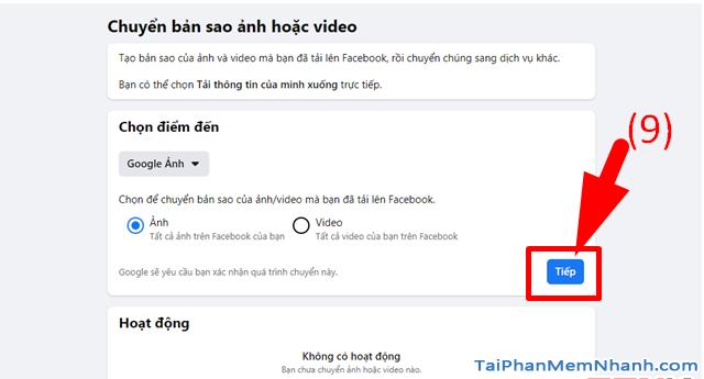 Hướng dẫn di chuyển ảnh từ Facebook sang Google Photos + Hình 11