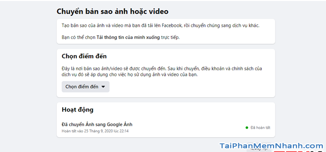 Hướng dẫn di chuyển ảnh từ Facebook sang Google Photos + Hình 15