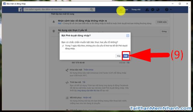 10 Thủ thuật nâng cao bảo mật cho tài khoản Facebook + Hình 11