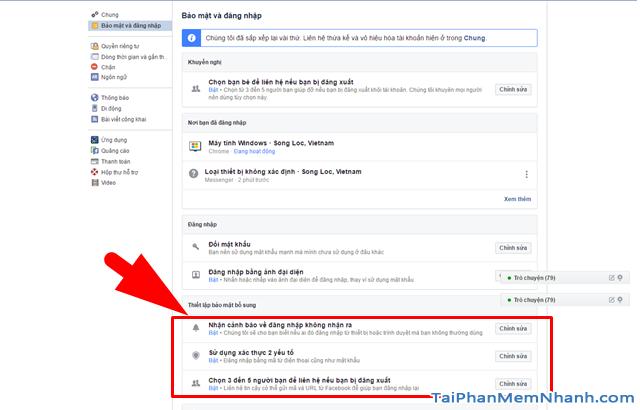 10 Thủ thuật nâng cao bảo mật cho tài khoản Facebook + Hình 18