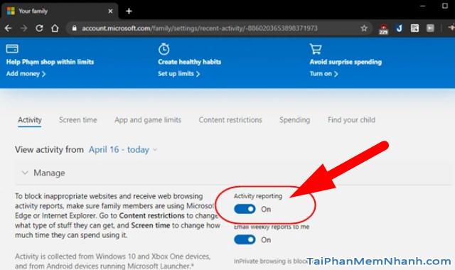 Parental Controls - Kiểm soát trẻ nhỏ dùng máy tính Windows 10 + Hình 11