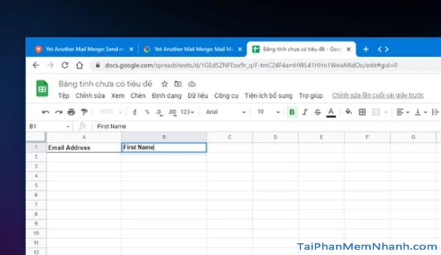 Mẹo gửi Email hàng loạt trong Gmail từ Google Sheets + Hình 7