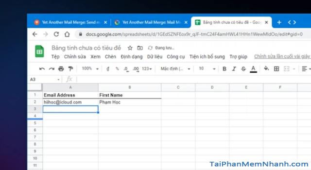 Mẹo gửi Email hàng loạt trong Gmail từ Google Sheets + Hình 8