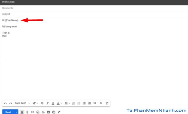 Mẹo gửi Email hàng loạt trong Gmail từ Google Sheets + Hình 9