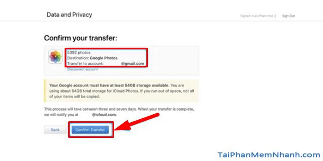 Hướng dẫn chuyển ảnh từ Apple iCloud sang Google Photos + Hình 12