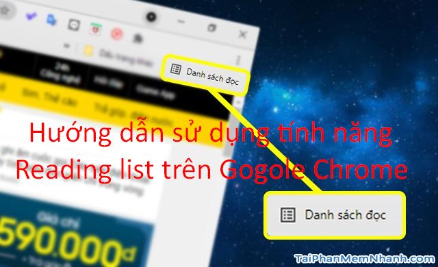 Google Chrome bổ sung thêm chức năng Reading list