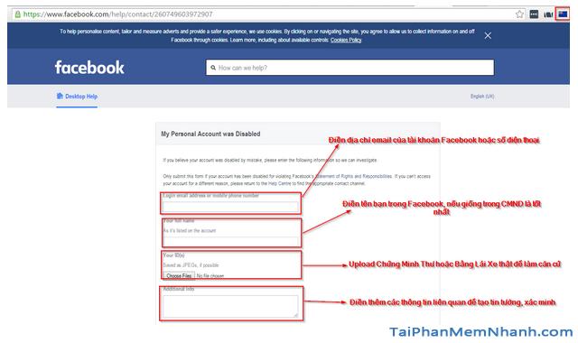 Thủ thuật Khôi phục lại Tài khoản Facebook bị vô hiệu hóa + Hình 11