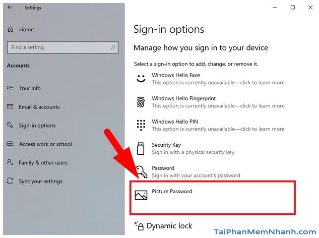 Hướng dẫn sử dụng hình ảnh để làm mật khẩu cho Windows 10 + Hình 7