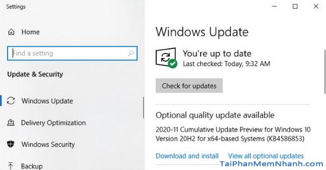 Thủ thuật Windows 10: Optional Quality Update là gì ? + Hình 4