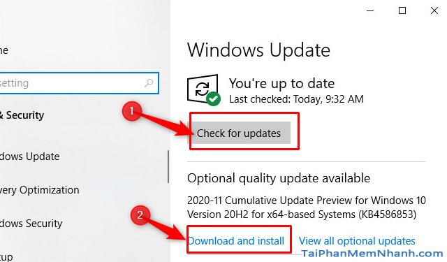 Thủ thuật Windows 10: Optional Quality Update là gì ? + Hình 8
