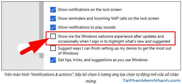 Cách tắt tự động mở cửa sổ giới thiệu sau khi Update Windows 10 + Hình 10